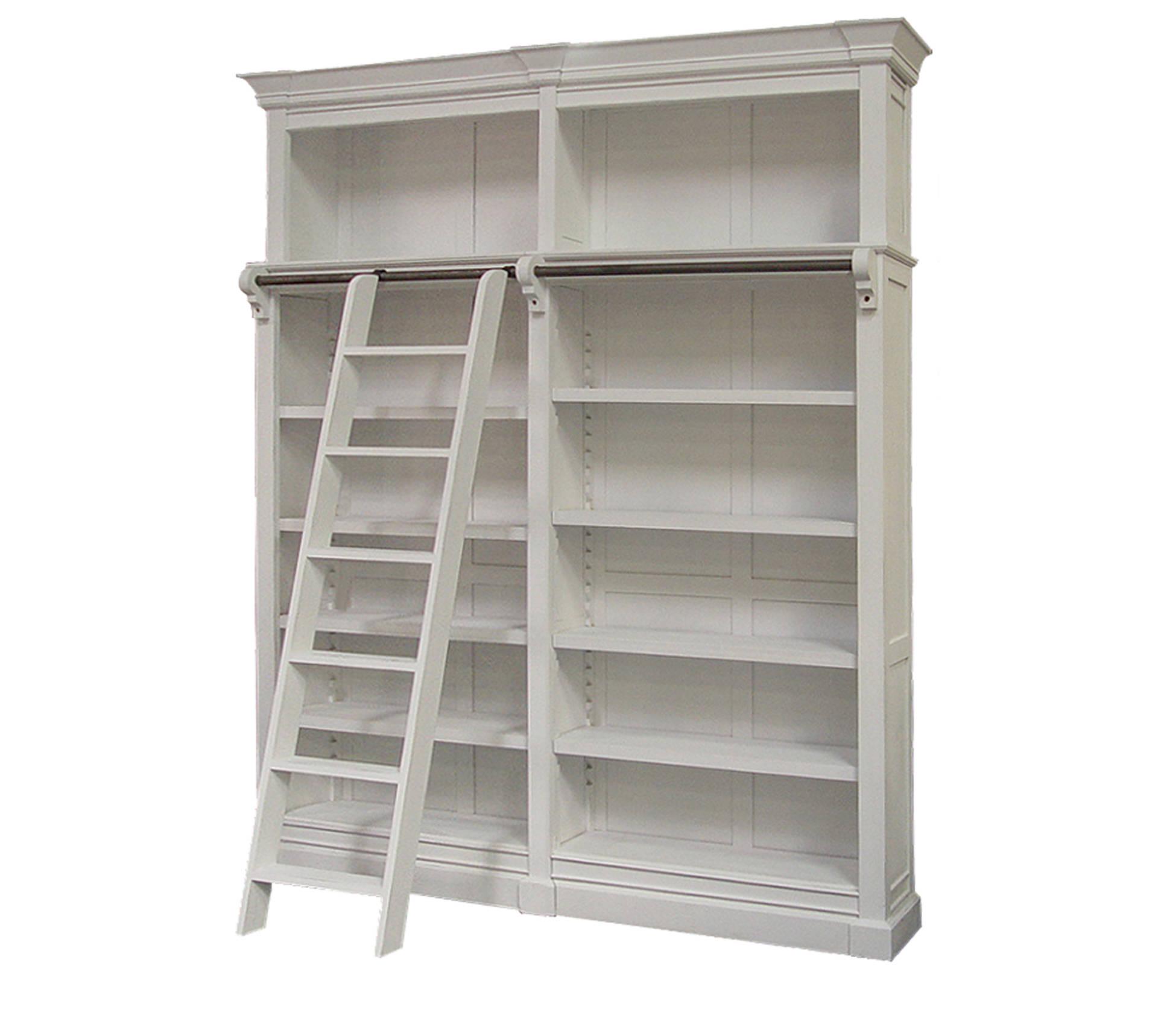 Flemington Bookcase 200 Shabby Chic White