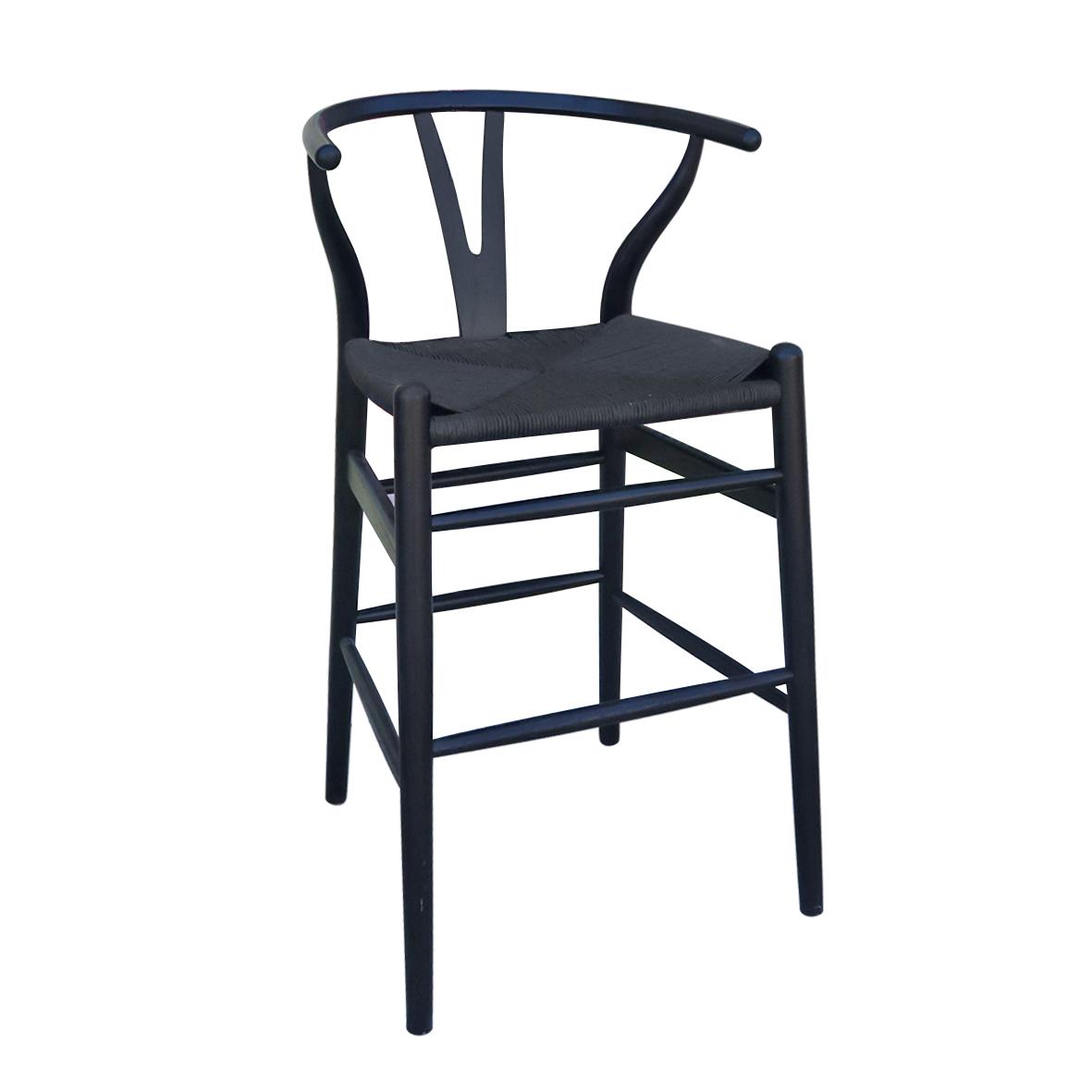 Wishbone counter stool