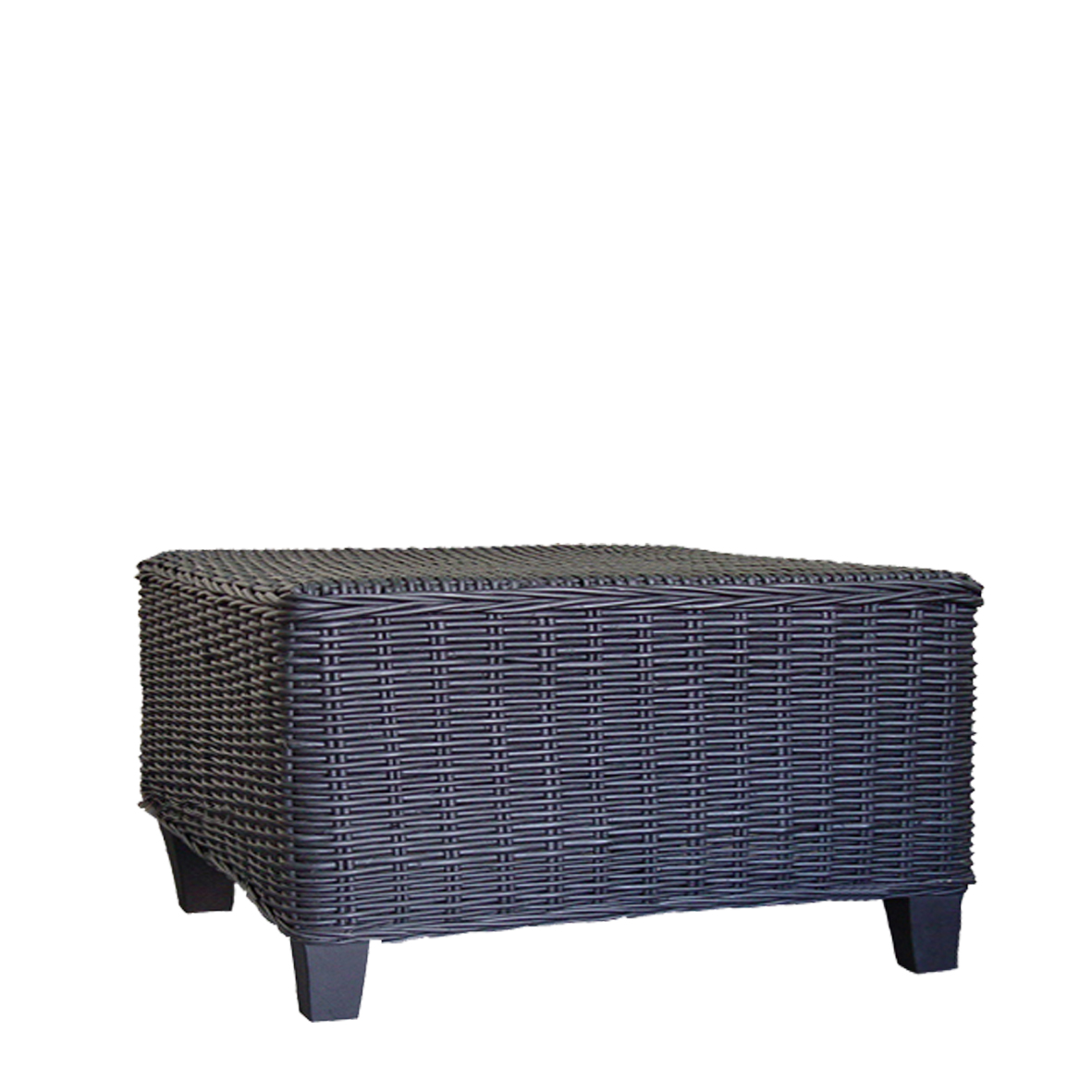 Black Wicker Coffee Table: DERBY 100x100cm Rattan Coffee Table